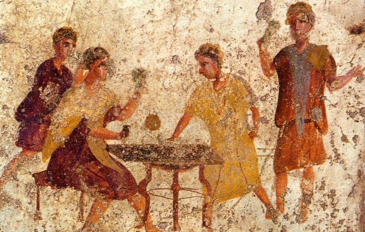 Pompeii Osteria della Via di Mercurio Dice Players